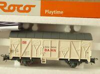 """Roco H0 Freight Car """" Goods Color Railway """" DB Epoch 4/6 neuwertig Boxed"""