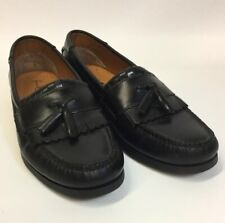 French Shriners Mens Black Leather Loafers Size 10.5