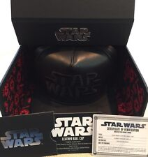 Disney Parks Star Wars Dark Side Leather Baseball Cap Hat 5/4/17 Limited Release