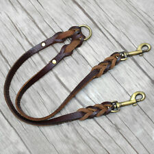 2 Way Dog Lead Real Leather Twin Dog Coupler Splitter Lead for Large Dogs Boxer