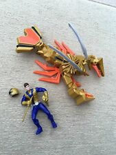 Power rangers super samurai clawzord and gold ranger figure Rare play set