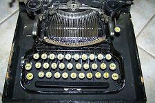 antique apothecary medical corona typewriter  3 bank used vintage portable 1900