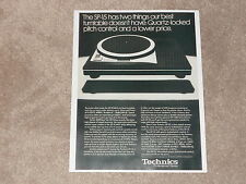 Technics Ad, 1 page Ultimate Turntable 1979 SP-10 MK2 Direct Drive, Article