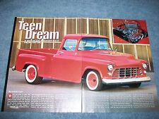 "1956 Chevy 3100 Short Bed Pickup Resto-Rod Article ""Teen Dream"""