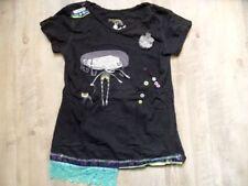 DESIGUAL schönes Shirt schwarz Mädchen + Spitze Gr. 11/12 J TOP BI817