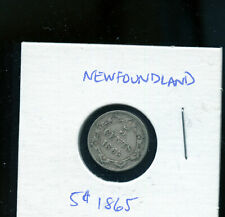 1865 Newfoundland 5 Cents VF20 or better - Fist Year of Issue  MP354