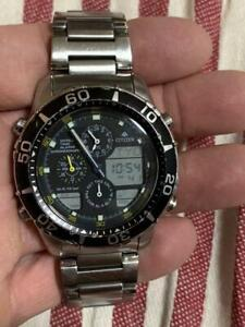 CITIZEN PROMASTER C300 Navihawk Chronograph Quartz Black Dial Watch