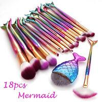 18Pcs Makeup Brushes Cosmetic Tool kit Eyeshadow Foundation Powder Brush set XL