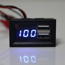 12V Battery Capacity Indicator Voltage Gauge Power Meter with USB Charge Output