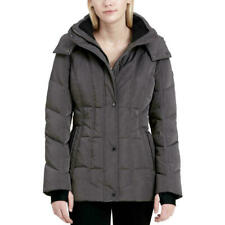 Calvin Klein Womens Hooded Puffer Coat Titan Size L