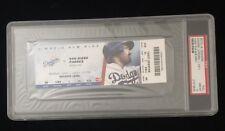 LA DODGERS YASIEL PUIG MLB DEBUT TICKET VS. SD PADRES 6/3/13 PSA GEM MINT 10
