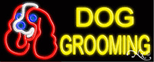 "BRAND NEW ""DOG GROOMING"" 32x13 W/LOGO REAL NEON SIGN w/CUSTOM OPTIONS10538"