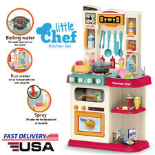 Kitchen Play Set Kids Toy Pretend Food Cooking Toddler Toys Gift Playset Gifts