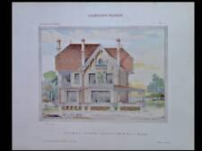 LE HAVRE, VILLA - 1909 - GRANDE PLANCHE COULEUR - DURAY MAROZEAU, ARCHITECTURE