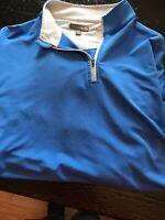 Peter Miller Wicking Golf Zipper Shirt Mens Sz XL