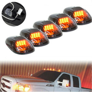 5 Pcs Smoked 12 LED For Dodge Ram Cab Roof Top Marker Running Clearance Light