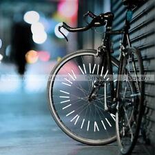 12 Pcs Bicycle Wheel Spoke Reflector Reflective Mount Clip Tube Warning Strip
