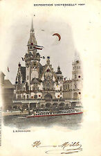 CPA PARIS EXPOSITION UNIVERSELLE WORLD FAIR PAVILLON ALLEMAGNE VIGNETTE 1900