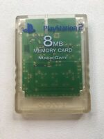 Official Genuine OEM Sony PlayStation 2 PS2 Memory Card Clear 8MB
