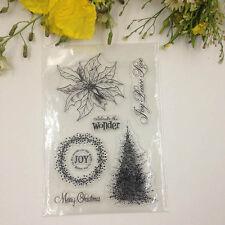 Leaf Tree Scrapbook DIY Photo Albums Cards Transparent Silicone Seal Stamp