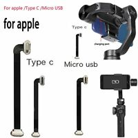 Mini Charge Câble Type C /Micro USB Smooth 4 to Micro USB Flat 90 Degree Tip VS9