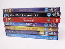 Disney DVD Bundle 7 DVDs Beauty and Beast Monster Inc The Incredibles