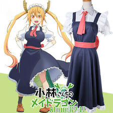 Japanese Anime Miss Kobayashi's Dragon Maid Tohru Dress Outfit Cosplay Costume