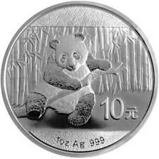 2014 CHINESE PANDA 1 oz BU 10 Yuan SILVER COIN in Capsule