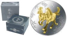 2014 Feng Shui - Horses - 1oz Silver Coin - NZ Mint