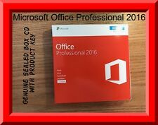 Genuine Sealed pack microsoft office Professional 2016 CD key in box by post