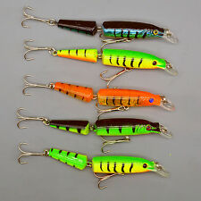 Lot 5pcs Jointed Bait Swimbaits Bass Fishing Lures 10.5cm/9.6g Crankbaits Tackle