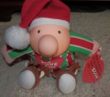"Ziggy christmas Character Plastic Toy with tags 6"" Ziggy  Messenger 1991"