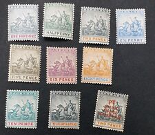 BARBADOS 1892 0.25d to 2s6d SG 105 // 114 153a Sc 70 // 79 B1c MLH/MH