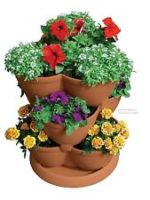 Garden Planter Pots Flower Container Stacking Outside Gardening Vegetables Herbs