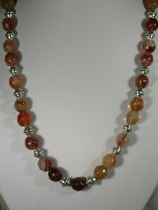 "20""  Agate Bead Necklace"