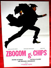 GOODBYE MR.CHIPS 1969 PETER O'TOOLE MICHAEL REDGRAVE P.CLARK EXYU MOVIE POSTER