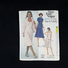 Vintage VERY EASY VOGUE Skirt Top Jacket Size 12.5 #1680 Fashion Sewing Pattern
