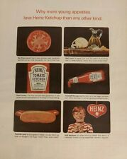 Vintage 1964 Magazine Ad HEINZ KETCHUP Young Appetites
