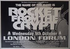 "TOUR POSTER~Rocket from the Crypt 1995 Scream Dracula 30x40"" London Forum NOS~"