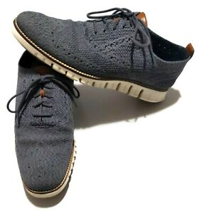 Cole Haan Zerogrand Wingtip Stitchlite Oxford Shoe Gray Men 9.5 C27692