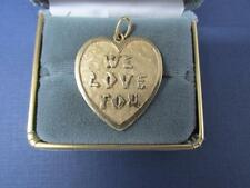 Vintage 14k Solid Yellow Gold We Love You Pendant Hallmark 14k