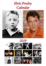 Elvis Autographed Calendar 2019 Portrait A4