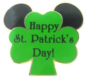 2008 Disney St. Patrick's Day 2008 Mouse Ears on Shamrock Pin