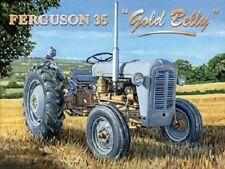 Ferguson 35 Gold Belly tractor design metal sign 15cm x 20cm