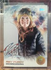 SUPER RARE 2014 TOPPS OLYMPIC AMY PURDY GOLD RAINBOW CARD #69 ~ SNOWBOARDING