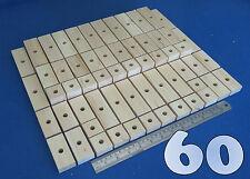 60 GRANDE LEGNO NATURALE blocchi PLANKS Bundle Set GABBIA PAPPAGALLO-Gioco di ECO GIOCATTOLI LOTTO