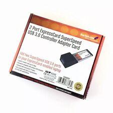 StarTech ECUSB3S2 2 Port ExpressCard Superspeed USB 3.0 Controller Adapter Card