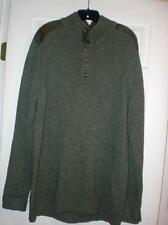 EDDIE BAUER MENS SIZE X-LARGE TALL QUARTER BUTTON UP LONG SLEEVE DRESS SWEATER