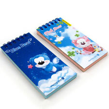 Set of 2 Morning Glory Pink Bear Blue Bear Memo Note Pad #1 Notepad Stationery