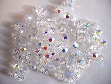 100 pc SWAROVSKI CRYSTAL AB 4mm Loose BEADS #5000 Round, Wedding/Bridal Jewelry